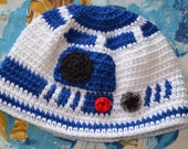 PATTERN R2-D2 Crochet Hat Pattern (Teen & Adult sizes)