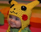 PATTERN ONLY Pikachu Crochet Hat Pattern (Baby, Toddler, and Child sizes)