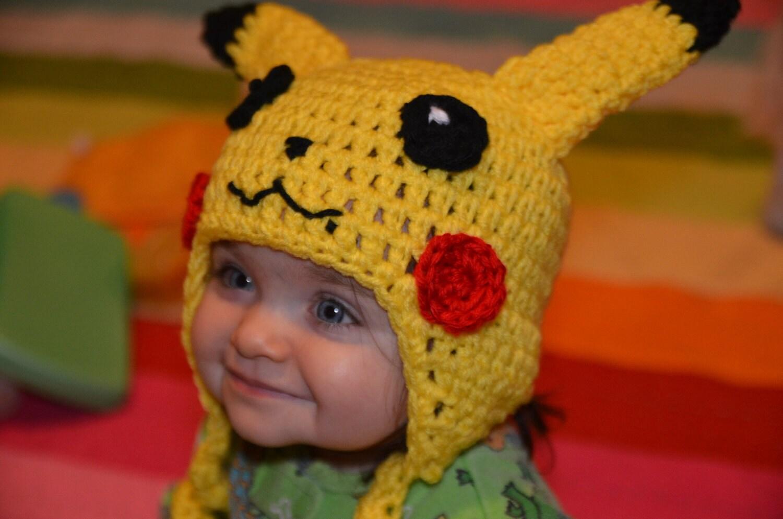 Crochet Pattern For Pikachu : Pattern Only Pikachu Crochet Hat Pattern Baby By ...