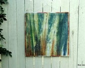 Art Quilt 'Forest' - Wall Hanging - Green and Brown - OOAK