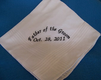 Father of the Groom Hankerchief