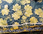 Chuppah/Wall Hanging: Maple Leaves and Poetry