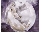 Rabbit Moon - Fine art print, medium size