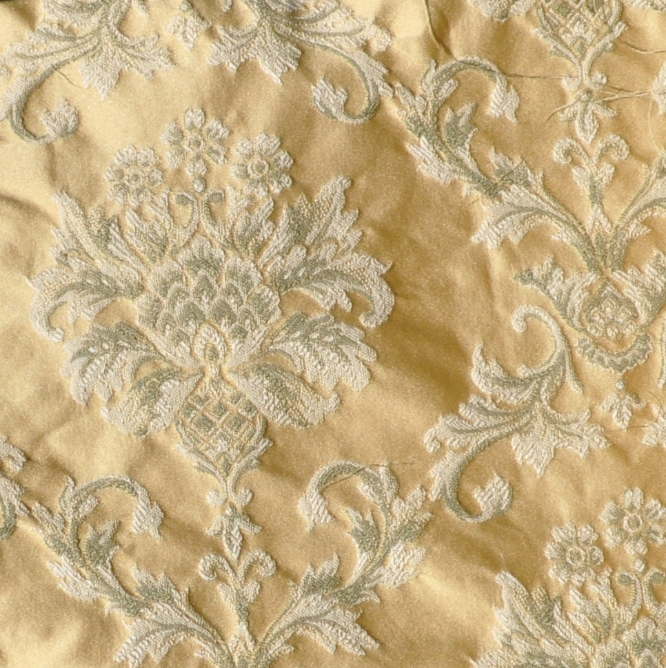 Brocade Upholstery Fabric In Yellow Destash Over 2 Yards