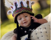 Thanksgiving Indian hat, perfect newborn photo prop.
