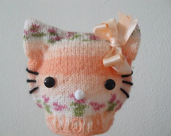 Cat baby hat - perfect newborn photo prop and Halloween costume and every day use.