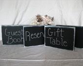 LARGE Wedding Reception Chalkboard Signs Rustic Wedding Signs Buffet Signs Reception Signs SET OF 5 Reusable
