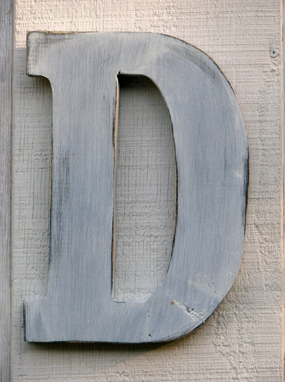 wooden letter d rustic wooden letter d distressed painted white12 25673