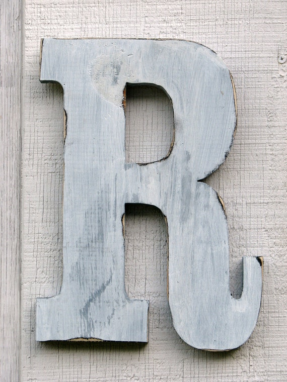 distressed wood letters items similar to rustic wooden letter r distressed painted 21380