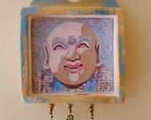Laughing Buddha Shrine/Altar wall hanging (lbs001) the portly Chinese Buddha of Happiness, by Sandy Oppenheimer/Nansee New of Casa Luz