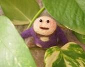 """on SALE - Needle Felted  """"Tomoo"""" - purple"""