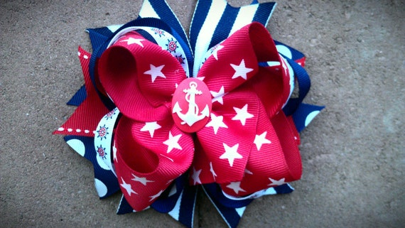 Anchors Aweigh Boutique Bow