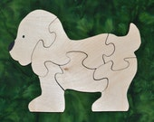 Puppy Puzzle: Handmade Educational Wood Puzzle with Bag for Storage - WoodenGiraffeToys