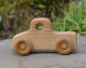Pickup, Truck, Redwood, Wood Toy Car