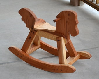 Rocking Horse, Redwood, Handcrafted and Heirloom Quality