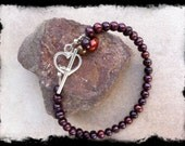 Women's Berry-Licious Pearl Bracelet with a Sterling Silver Heart Shaped Toggle Clasp