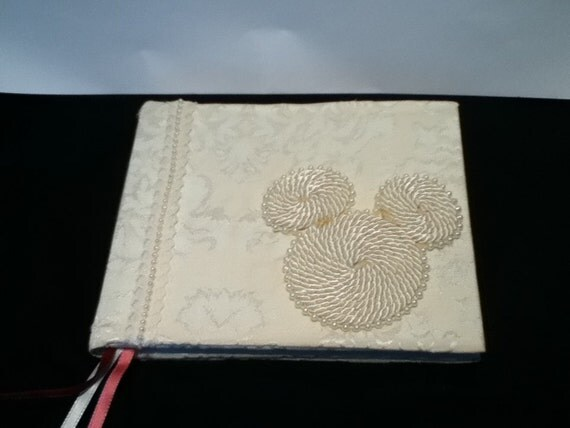 Fabric Cover Guest Book ~ Fabric covered disney wedding guest book