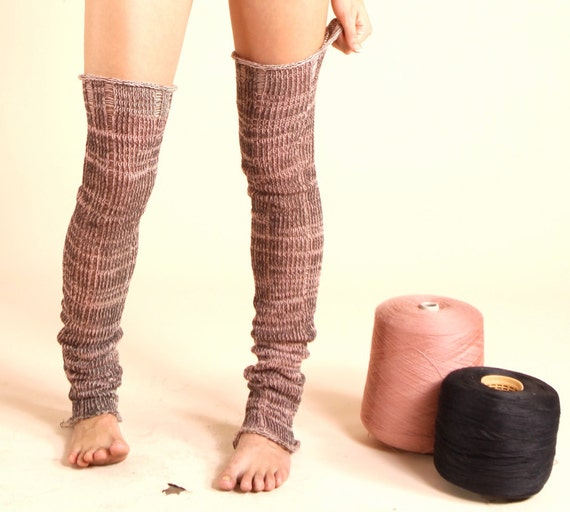Leg-Warmers, textured with color