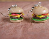 CLEARANCE Bacon Cheeseburger Earrings