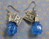 CLEARANCE Diablo 3 Mana Potion Earrings