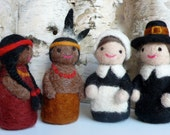 Needle Felted Pilgrims and Native Americans