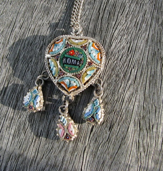 Mosaic  Necklace Roma Heart Pendant Necklace