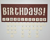 Birthday Reminder Board Deluxe Set: Chocolate and Vanilla