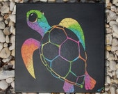 """Original Painting: Green Sea Turtle - """"It's Not Easy Being a Green Sea Turtle"""""""