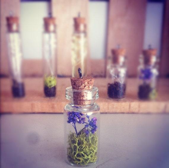 Purple Terrarium Necklace