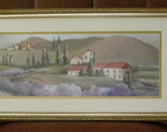 "Landscape Painting by C. Robinson ""Lavender"""