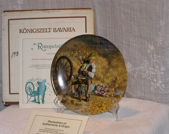 "Beautiful Grimm Fairy Tale collectors plates - ""plate 4 of 6"" - ""Rumpelstiltskin"" Bradford Exchange"