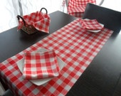 set of red white  table cloth napkin placemats ,christmas gift home