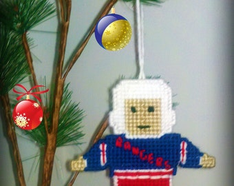 Custom Hockey Player Ornament