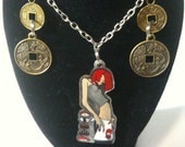 Tokidoki 'sushi girl' necklace