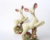 Deer Figurine or Statue, Vintage Woodland or Forest Decor -- Set of Two