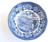 English Transferware Bowl With Scottish Scene, Home Decor