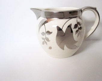 Silver Lusterware Creamer, Vintage from England, Home or Kitchen Decor