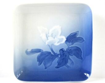 Blue Flower Plate, Vintage Danish Porcelain, Made in Denmark