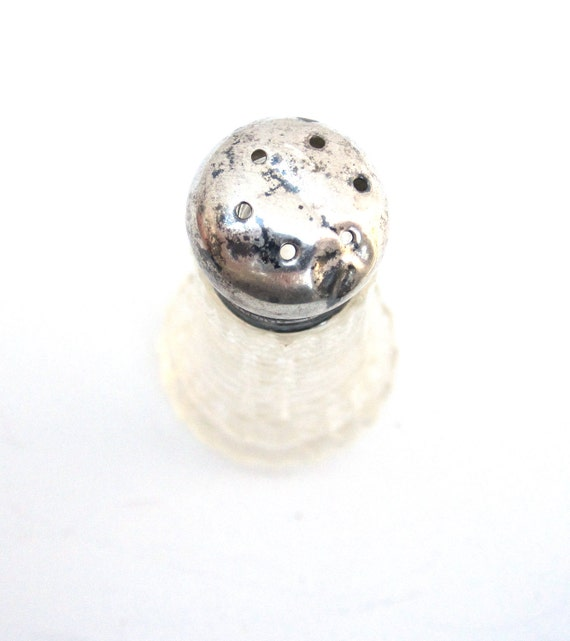 Silver Shaker for Salt or Pepper, Vintage, Home Decor, Kitchen Decor