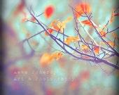 Series of 3 fine art photography Giclee Art Prints - Autumn in retro colours - nostalgic feeling - 12 x 12 square format
