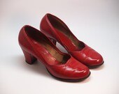 40s lipstick red pumps pin-up size 8