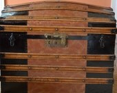 Vintage upcycled dome top trunk