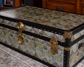 Old world style vintage trunk