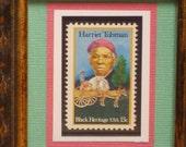 Vintage Framed Postage Stamp - Harriet Tubman - No. 1744