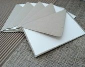 "Set of Five (5), Dotted Delight Stationery,  3 1/2"" x 4 7/8"", Cream Folded Card with Recycled Paper Envelope"