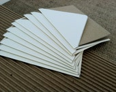 "Set of Ten (10), Dotted Delight Stationery,  3 1/2"" x 4 7/8"", Brown Bag Folded Card with Cream Envelope"