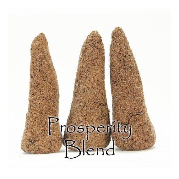 Prosperity Blend, Artisan Hand Made Incense Cones, Set of 3