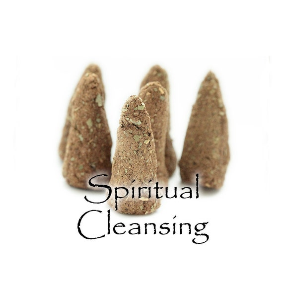 Artisan Hand Made Incense Cones, Spiritual Cleansing Blend, Set of 6
