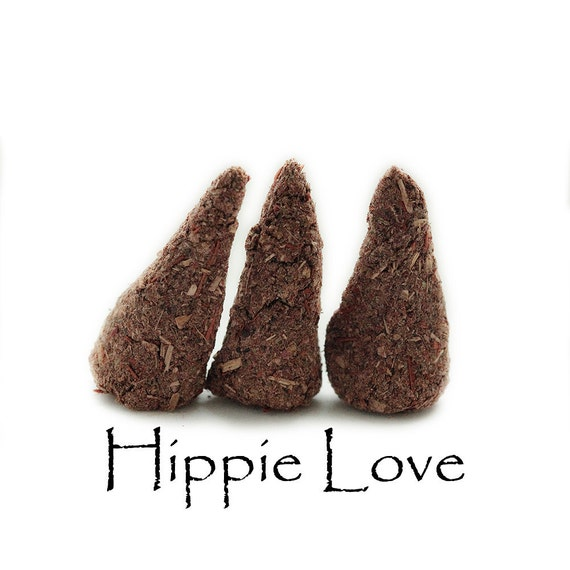 Hand Made Incense Cones, Håndlavet Røgelse, Hippie Love