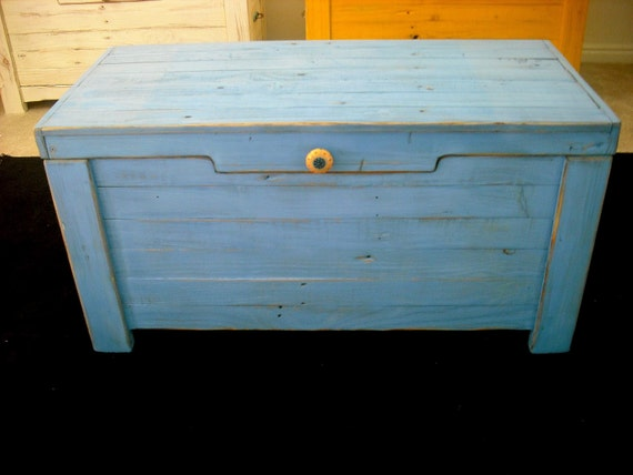 One Day Only April 16 Sale Blue Hope Chest / Toy Chest